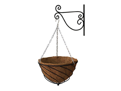 Black Colored VegTrug Hanging Basket Planter