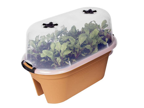Image of ELHO Oval Bridge Planter with Cover