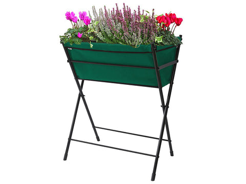 Green Poppy Go VegTrug with plants