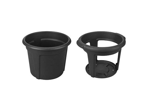 Image of ELHO Potato Pot Planter. The outer pot on the left side and the inner pot on the right side.