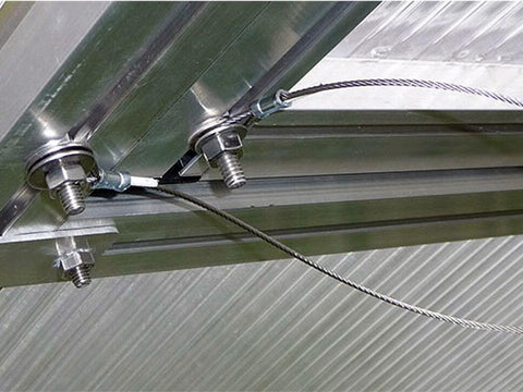 Image of Installed Additional Wind Restraint System