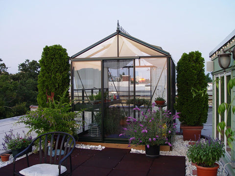 Image of Janssens Royal Victorian VI 23 Greenhouse 8ft x 10ft in ash grey