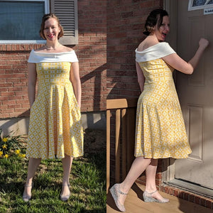204 Ladies Spring Dress- Instant download PDF Sewing Pattern