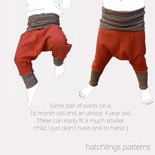 Load image into Gallery viewer, P is for Pirate Pants - Instant download PDF Sewing Pattern