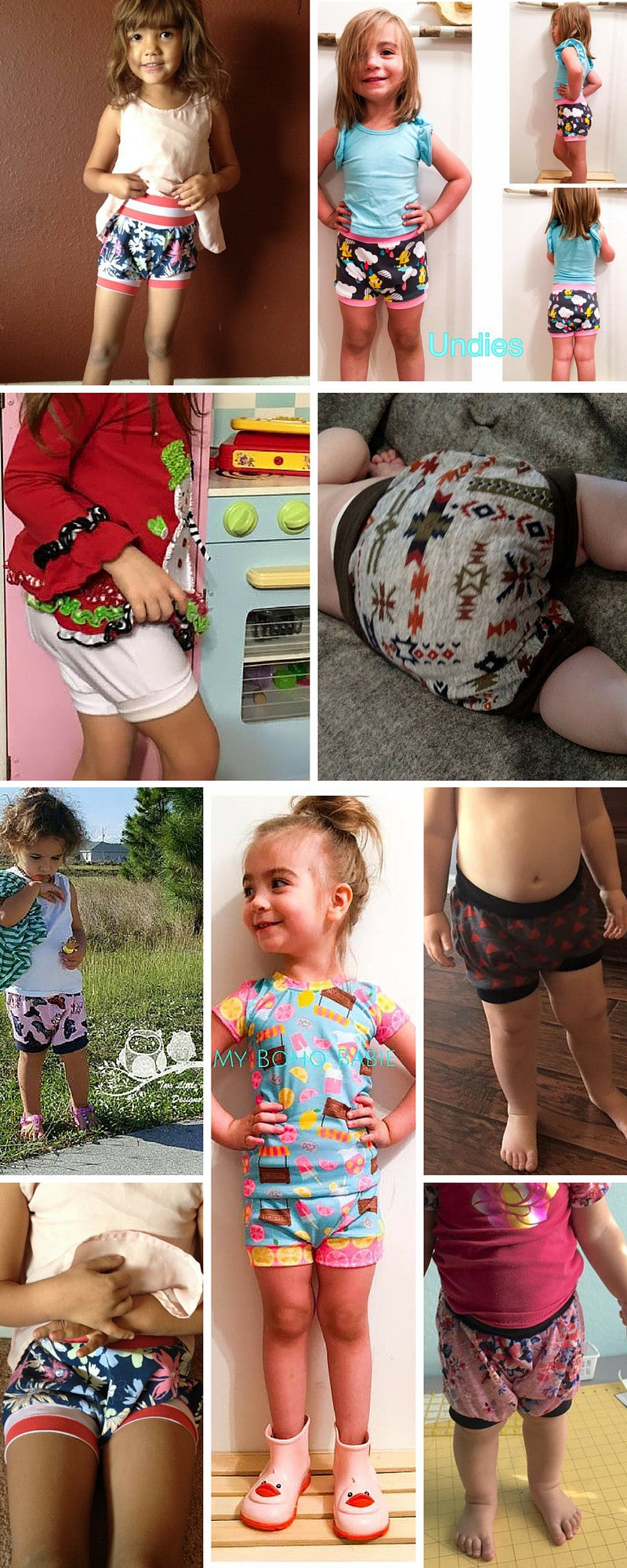 Grow-with-me Shorties - Instant download PDF Sewing Pattern
