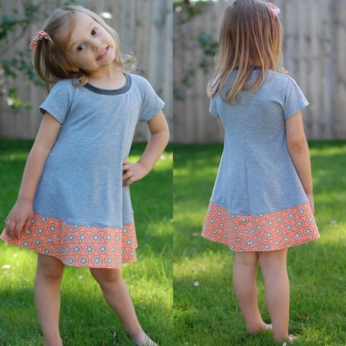 #130 Girls Everyday Swing Dress- Instant download PDF Sewing Pattern