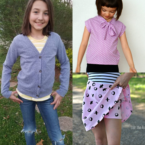 Girls Back-To-School Bundle - Instant download PDF Sewing Patterns