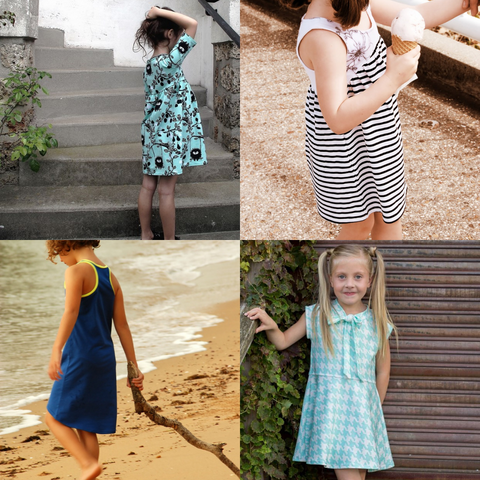 Easy Sew Dresses Back-To-School Bundle - Instant download PDF Sewing Patterns