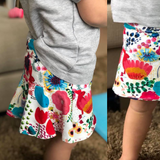 #126 Girls Sports Skort- Instant download PDF Sewing Pattern
