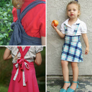 #112 Grow-with-me Suspender Skirt - Instant download PDF Sewing Pattern
