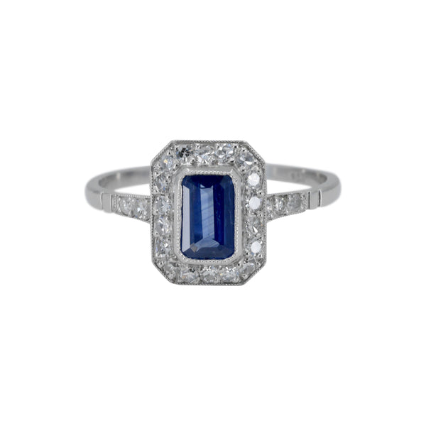 Art Deco Sapphire and Diamond Ring