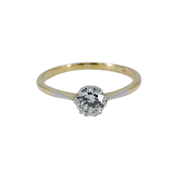 18ct and platinum single stone Diamond ring.
