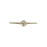 Pearl and Diamond Bar Brooch