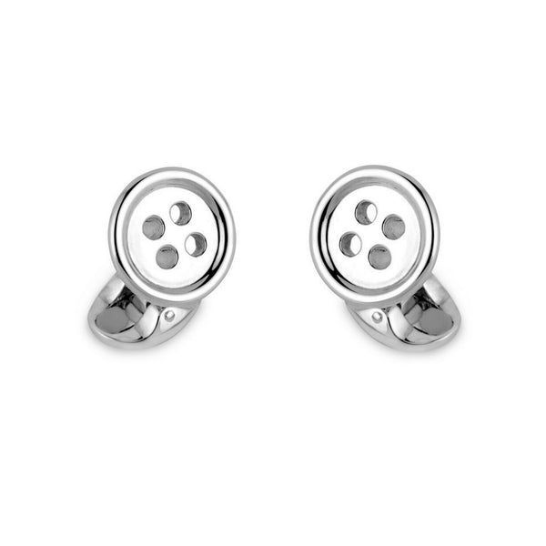 Deakin & Francis Silver Button Cufflinks