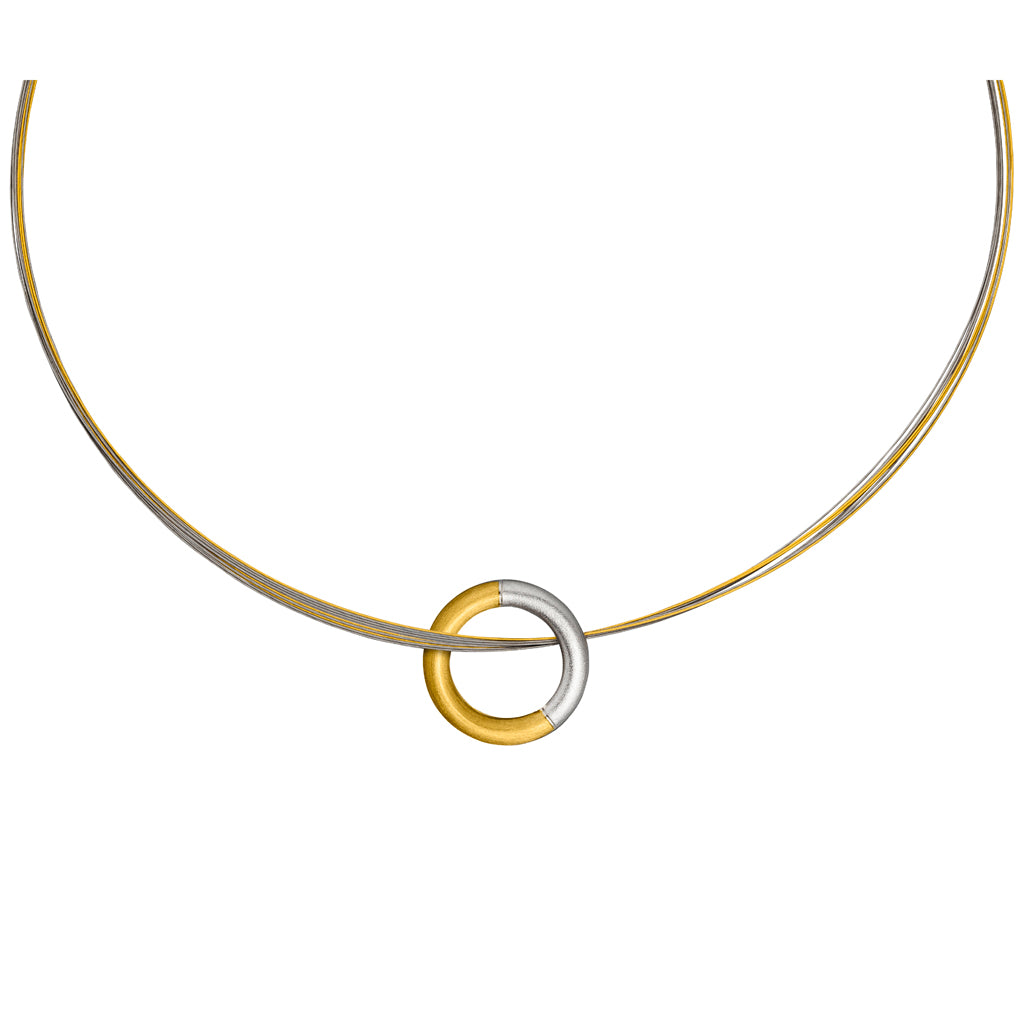 MANU SILVER & GOLD NECKLACE
