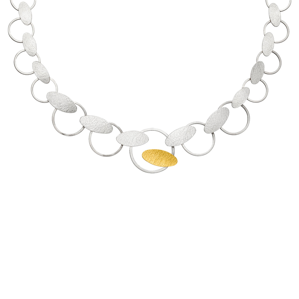 MANU SILVER AND GOLD NECKLACE