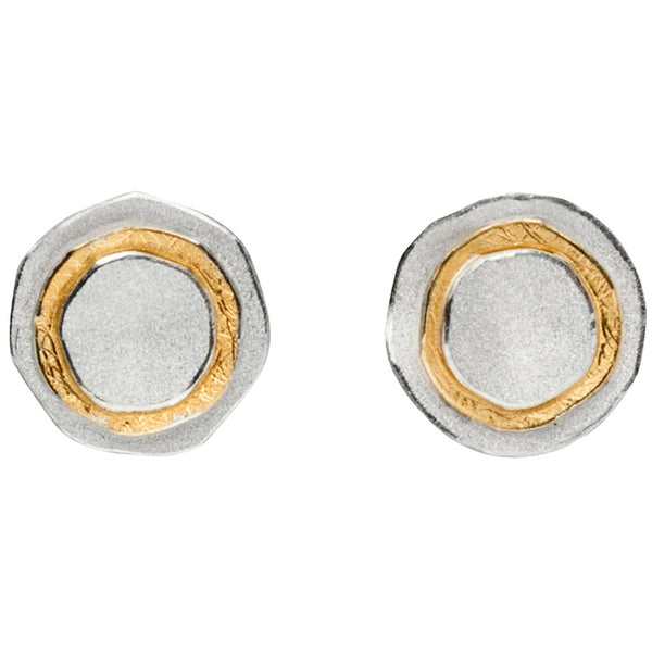 *new* MANU silver & gold stud earrings