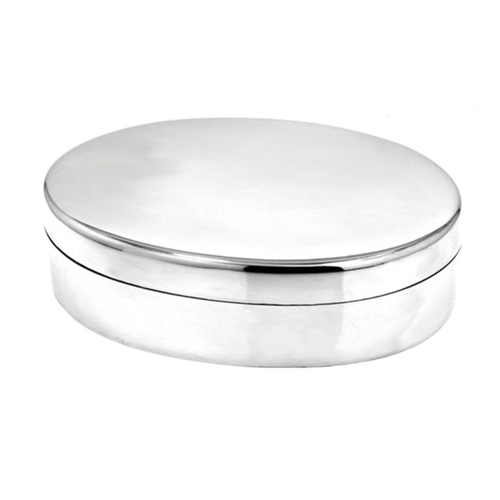 Pewter Oval Trinket Box