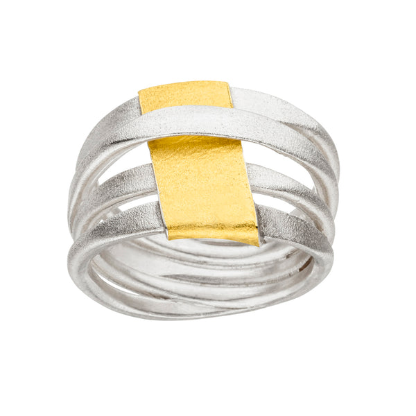 *NEW* MANU SILVER & GOLD RING