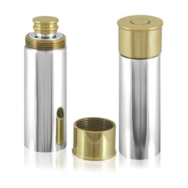 "Pewter ""Shotgun Cartridge"" Flask-4oz"