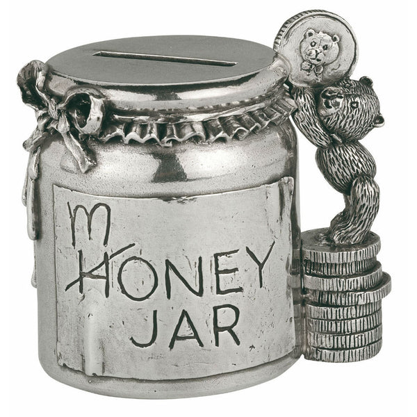 Pewter Coin Box - MONEY JAR