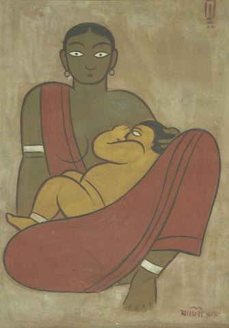Jamini Roy - Mother And Child