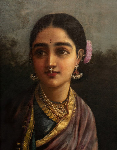 Portrait - Radha in the Moonlight - Framed Prints