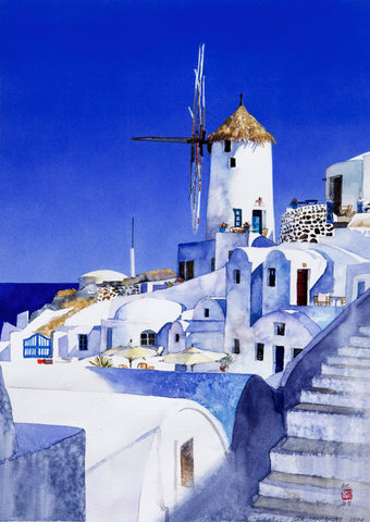 Azure Blues Of Santorini