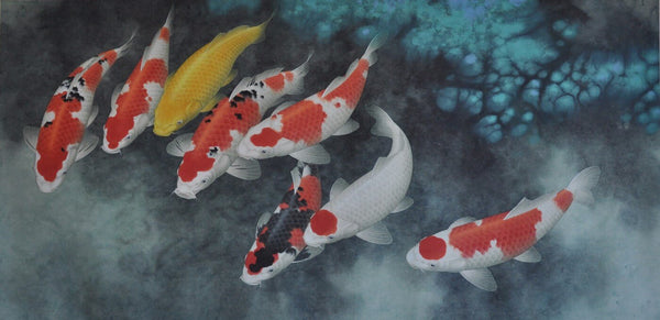 Koi Fishes Art - Posters