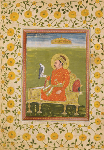 Indian Miniature Art - Pahari Painting - King Akbar