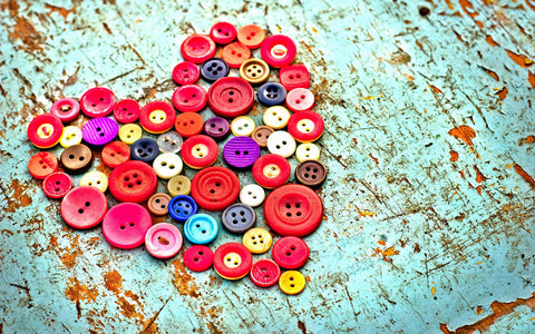 Best Gift for Valentines Day - Heart Buttons by Sina Irani