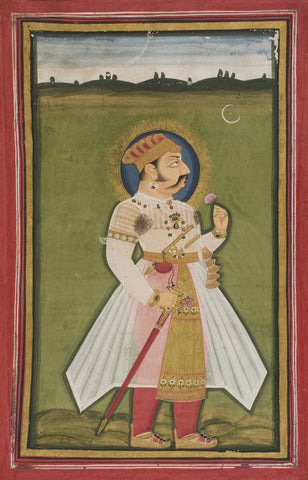 Indian Miniature Art - Rajput Painting - King Humayun