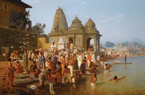 Worshippers At Trimbakeshwar Shiva Temple Nasik by HORACE VAN RUITH