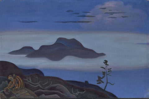 The Treasure – Nicholas Roerich Painting –  Landscape Art by Nicholas Roerich