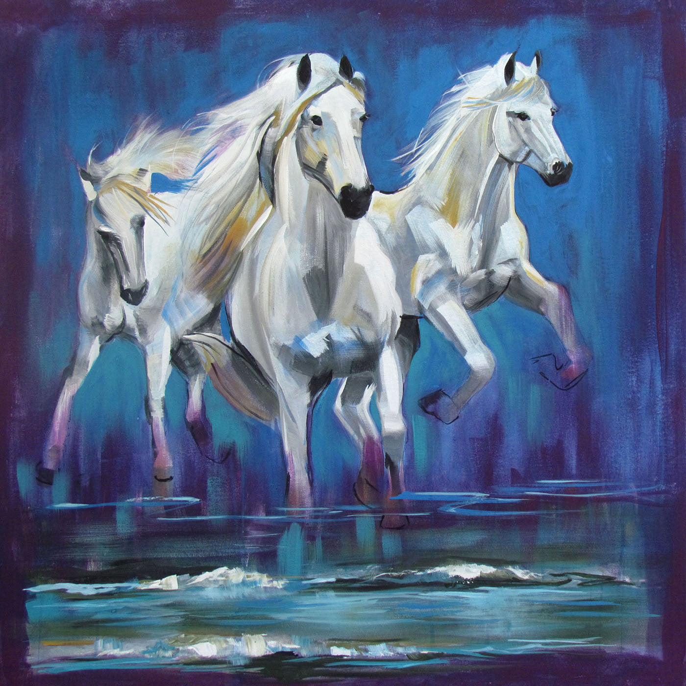Running Horses Oil Painting Large Art Prints By Joel Jerry Buy Posters Frames Canvas Digital Art Prints Small Compact Medium And Large Variants