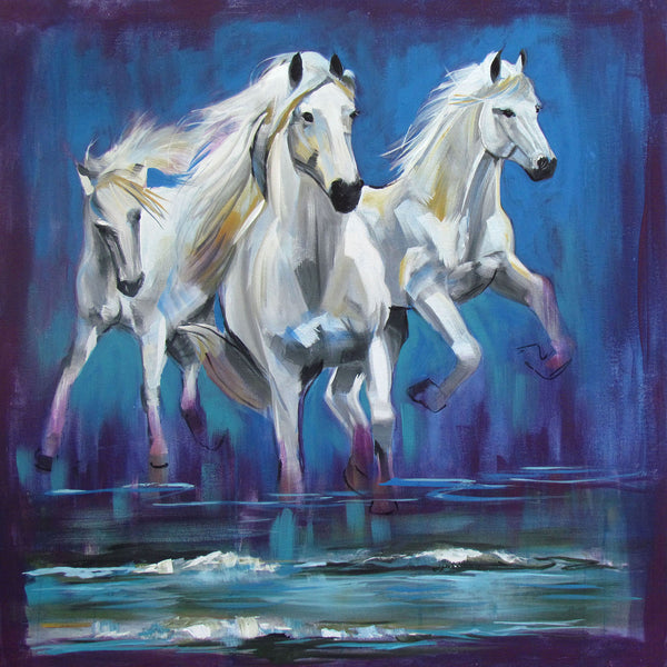 Artwork of Running Horses Oil Painting by Joel Jerry