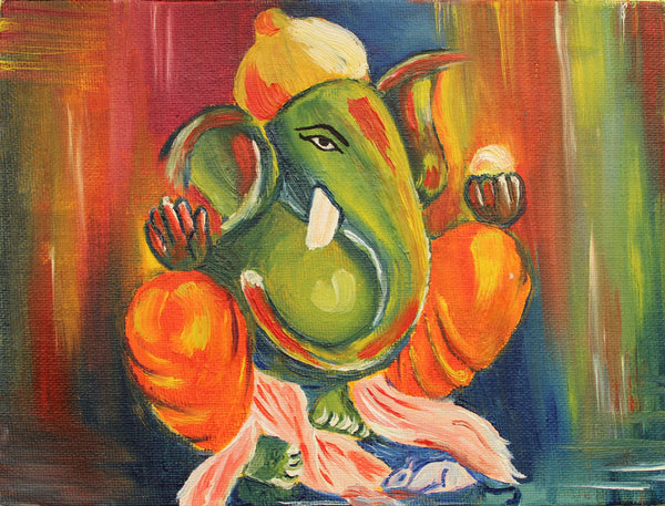 Lotus Ganesha - Art Prints