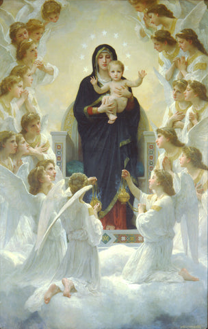 Virgin Mary with Angels by Sina Irani