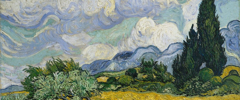 A Wheatfield with Cypresses by Vincent Van Gogh | Buy Posters, Frames, Canvas  & Digital Art Prints
