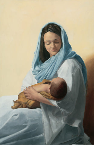 Mary Holding Jesus Christ - Art Prints