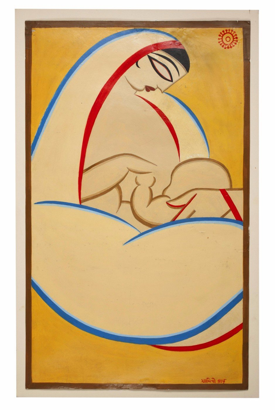Mother Feeding Baby - Large Art Prints by Jamini Roy   Buy Posters ...