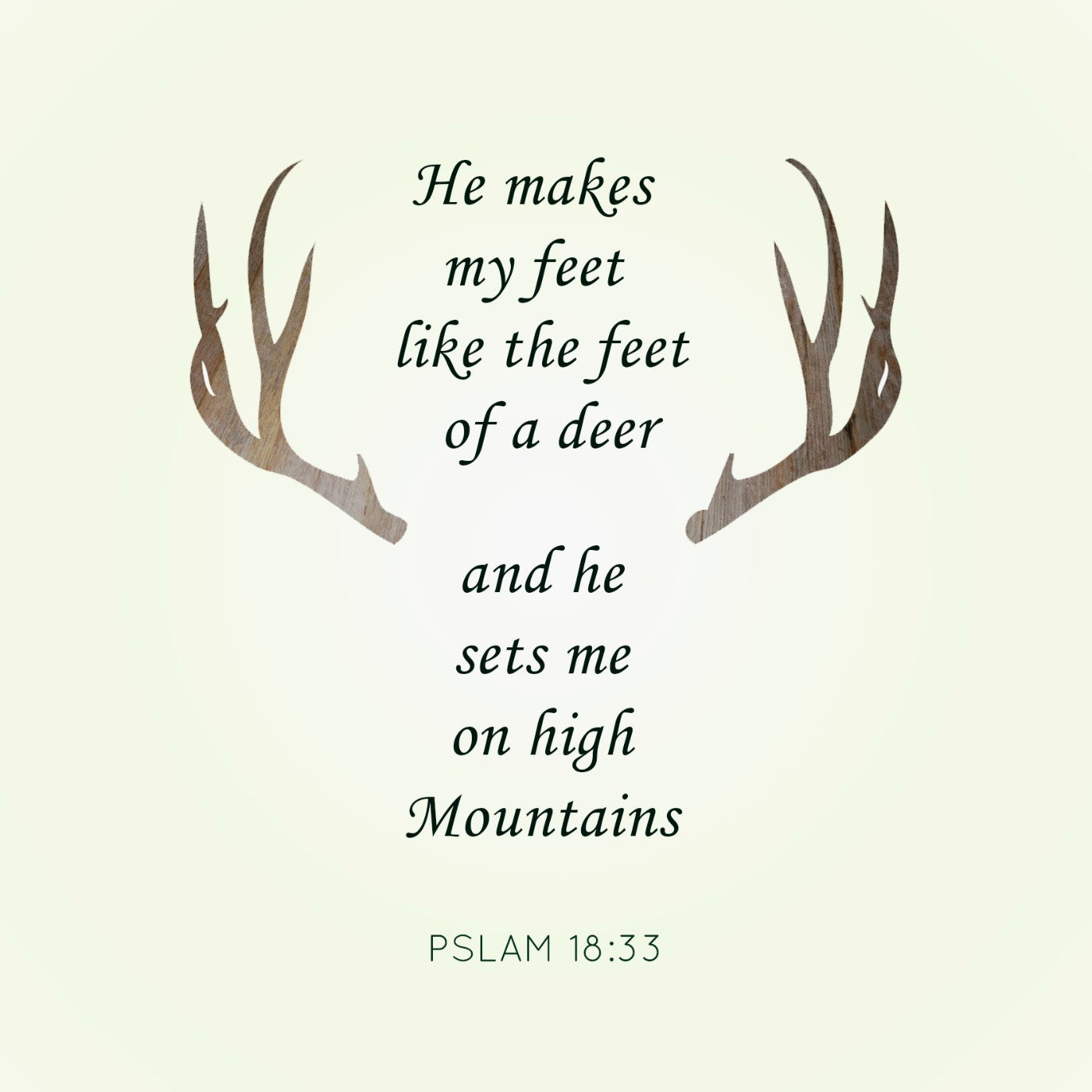 Psalms Deer Quote - Canvas Prints by Sina Irani | Buy Posters ...