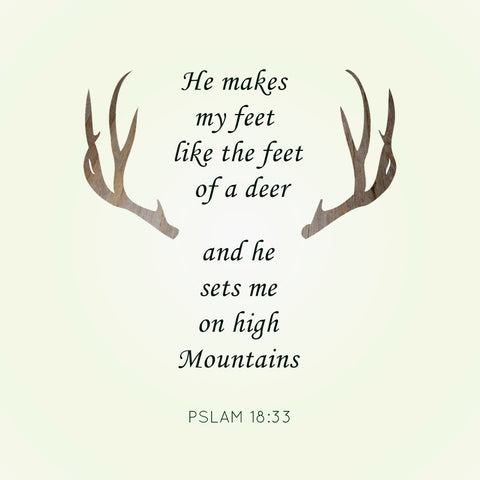 Psalms Deer Quote