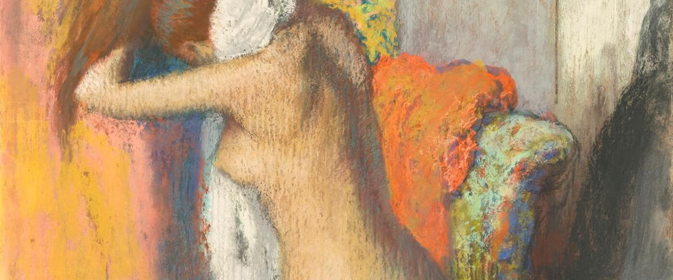 After the Bath, Woman Drying Her Nape by Edgar Degas | Buy Posters, Frames, Canvas  & Digital Art Prints