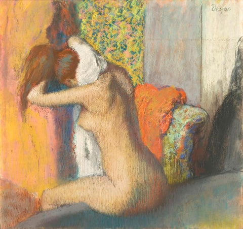 After the Bath, Woman Drying Her Nape
