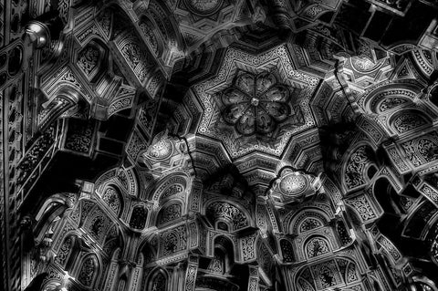 Ceiling In Black And White - Canvas Prints