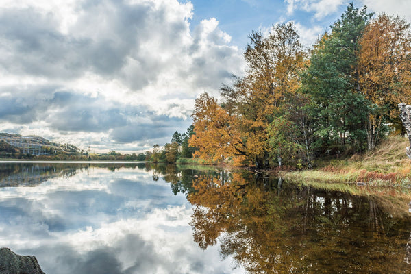 Autumn By The Lake - Framed Prints