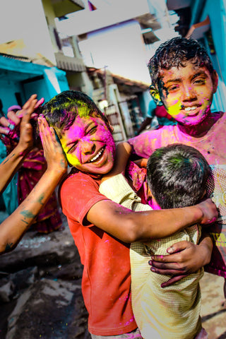 Holi Celebration - Canvas Prints by Senthil Kumar Ramachandran