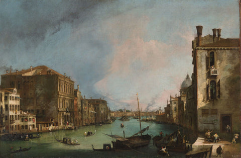 The Grand Canal In Venice With The Rialto Bridge