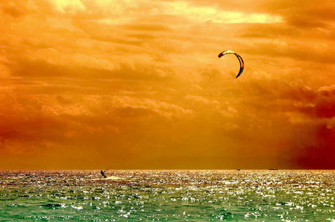 Windsurfing Under A Fiery Noonday Sun - Life Size Posters